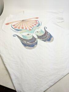 Chloe Graphic Oversized T Shirt White XL