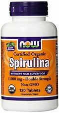 Now Foods Certified Organic Spirulina 1000mg 120 Tablets
