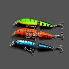 "5pcs 4"" Bass Striper Fishing Bait Swimbait Lure Life-like Multi-jointed NEW FR"