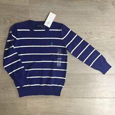 BNWT Ralph Lauren Jumper 6y striped crew neck jumper cotton RL 100% Genuine