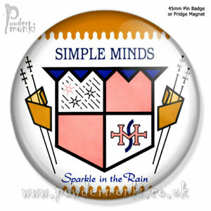 """SIMPLE MINDS """"SPARKLE IN THE RAIN"""" ~ Retro Music Badge/Magnet [45mm]"""