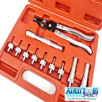 11 pcs Valve Stem Seal Removal Tool Installer Plier Car Garage Set Kit Oil Seals