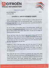 CITROEN C4 2005 automatico comunicato stampa * POST gratis Regno Unito *