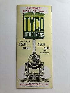 Vintage Tyco HO Gauge Electric Model Toy Train Brochure Catalog  R