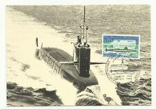 "carte  1er jour     sous-marin ""LE REDOUTABLE"""