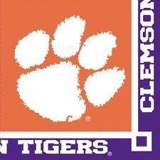 Clemson University Tigers 2 Ply Beverage Napkins 20 Pack 9X9 Sealed New