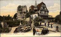 Hohbarr Haut-Barr Frankreich France Elsass Alsace 1905 Burg Ruine Fachwerk Lokal