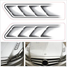 2Pcs Car Styling 3D Fake Vents Decorative Outlet Side Vents Stickers Waterproof