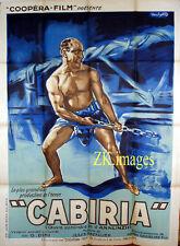 CABIRIA Maciste PASTRONE Peplum D'ANNUNZIO Carthage CECCHETTO Affiche 1914
