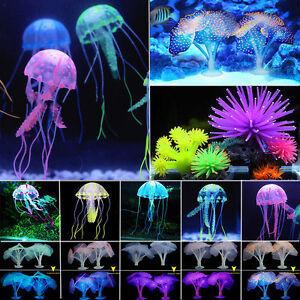 Aquarium Silicone Fake Jellyfish Coral Aqua Fish Tank Water Plant Home Decors