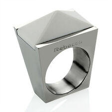 Rebecca Hydro White Onyx Pyramid Ring ~ Size 6 @STUNNING@ [NIB] *MSRP~$250*
