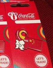 50 LONDON 2012 OLYMPICS COCA COLA CHINA PIN BADGES RIO 2016