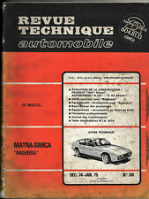 "Revue Technique Automobile N° 341- Matra-Simca ""Bagheera"""