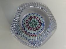 Beautiful WHITEFRIARS Faceted w/Elaborate Cutting Paperweight 1975 EC