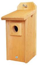 Chickadee House with Predator Guard Natural Cedar Hand Made