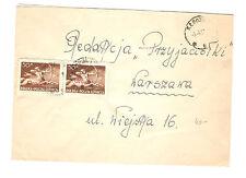 Polen Briefmarken Brief von 1951 Groszy Aufdruck Zentaur Mi 587