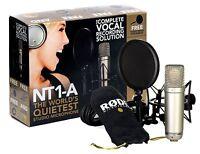 Rode NT1-A Complete Vocal Recording Set Studiomikrofonset inkl. Popschutz & Mik.