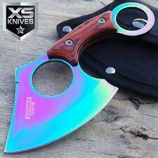"""New listing 6.5"""" Tactical Straight Edge Fixed Blade Cleaver Axe Hunting knife Karambit Style"""