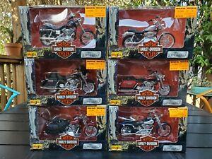 Lot of (6) 1999 Maisto 1:18 Harley-Davidson 1999 Models Complete Set MIB