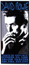 David Bowie Concert Poster Scott Benge NYC 2002