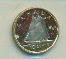 ICCS Canada 1965 10 cents PL-66 Heavy Cameo XDB 811