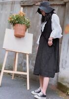 Robe tablier lin volants retro Mori ancienne superposition shabby chic Japon