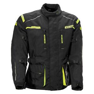 Richa Axel Motorcycle Motorbike Black / Fluo Hi Viz Textile waterproof jacket QP