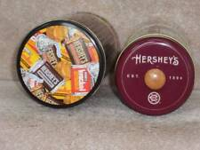 "Hershey Chocolate Candy Collector Tins ~9"" & 8"" tall"