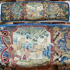 "RARE 74"" x 27"" Antique French Louis XIV Point de Saint-Cyr Needlework Tapestry"