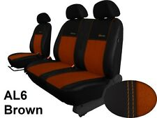 RENAULT TRAFIC 2001-2014 ECO LEATHER & ALICANTE SEAT COVERS MADE TO MEASURE