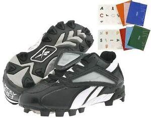 New Reebok Big Kid Jr 8 Vero Trade Low Baseball Cleat Black/White