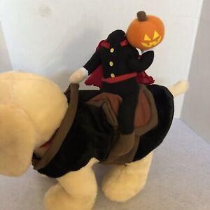 "Halloween""Headless Horseman Pet Rider"" Small Medium Dog Costume"