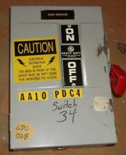 GENERAL ELECTRIC 30AMP HEAVY DUTY FUSIBLE SAFETY SWITCH TH3361 MOD 7 (103)