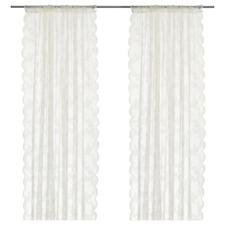 Net curtains, 1 pair, off-white, 145x250 cm