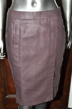 MAX MARA WEEKEND CHOCOLATE LINEN PENCIL SKIRT - UK 8 / EURO 38 - UNWORN