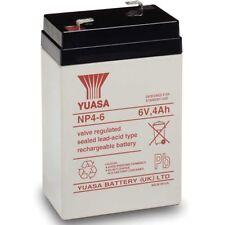 Yuasa NP4-6 Lead Acid Rechargeable Battery 6V, 4Ah