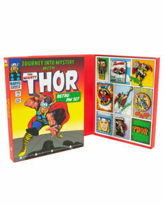 Official Marvel Thor Retro Pin Badge Set - DAMAGED BOX