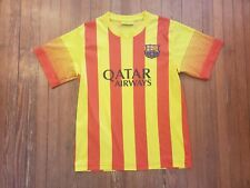 465a64eef44 Lionel Messi FC Barcelona Red Yellow Striped Soccer Jersey Boy s Size M