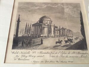 Galerie Dobiaschofsky Berne dealer Engraving St Alexanders Warsaw F Dietrich