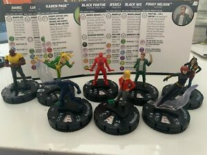 MARVEL KNIGHTS Heroclix figure DC Avengers Defenders War NEW LOT x8 RAREs