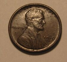 1910 S Lincoln Cent Penny - AU Condition / Light Corrosion - 4SA