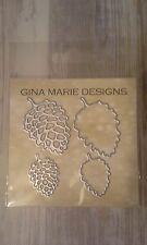 Gina Marie designs metal cutting dies - Pine cone & background die set