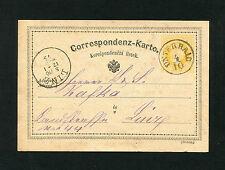 """Österreich   """"Unterhaid"""" Böhmen auf Ganzsache von 1875   (#861)"""