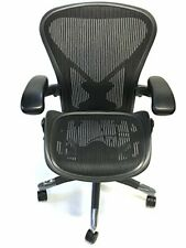 Herman Miller Classic Fully Loaded Carbon Black Size B Posturefit Aeron Chair