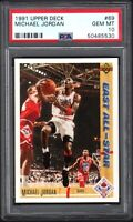 1991 Upper Deck #69 MICHAEL JORDAN Chicago Bulls PSA 10 GEM MINT