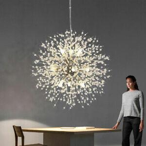 Firework Chandelier Modern Dandelion LED Crystal Ceiling Lights Living Room