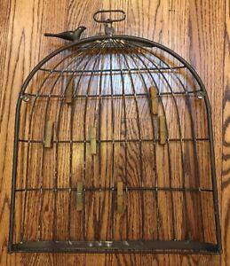 Birdcage Rustic Metal Wall Photo Memo Organizer Board