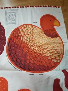 "Cranston Turkey cotton fabric panel Door Greeter Wall Hanging 16"" Free SHIPPING"