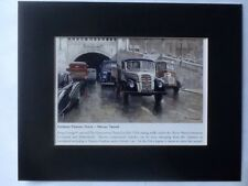 "Fordson Thames Truck Mersey Tunnel John Chapman Mounted Print Book Plate 8"" X10"""
