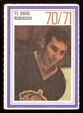 1970-71 ESSO POWER PLAYERS NHL #11 DOUG ROBINSON EX+ L A KINGS  UNUSED STAMP